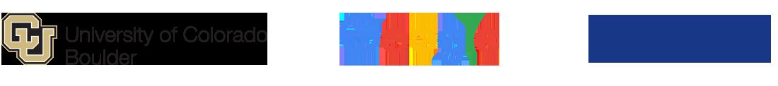 CU Boulder, Google and NIST logos
