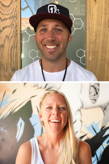 ben and annelise, founders of icelantic skis