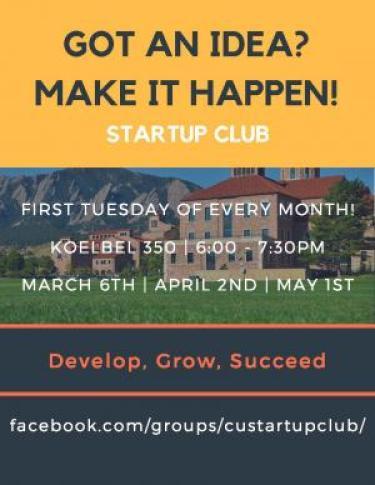 startup club flyer