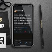 buffs with a brand tweet and phone image
