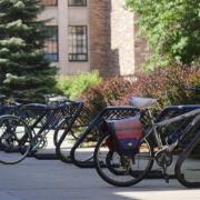 bikes on bike racks