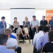 martha russo speaking at boulder startup week panel