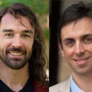 Assistant Professor Carson Bruns and Professor Franck Vernerey