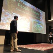 People Tracker pitches during new venture challenge quick pitch night