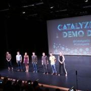 catalyze cu 2018 students on stage