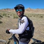 nicholas kellaris on bike