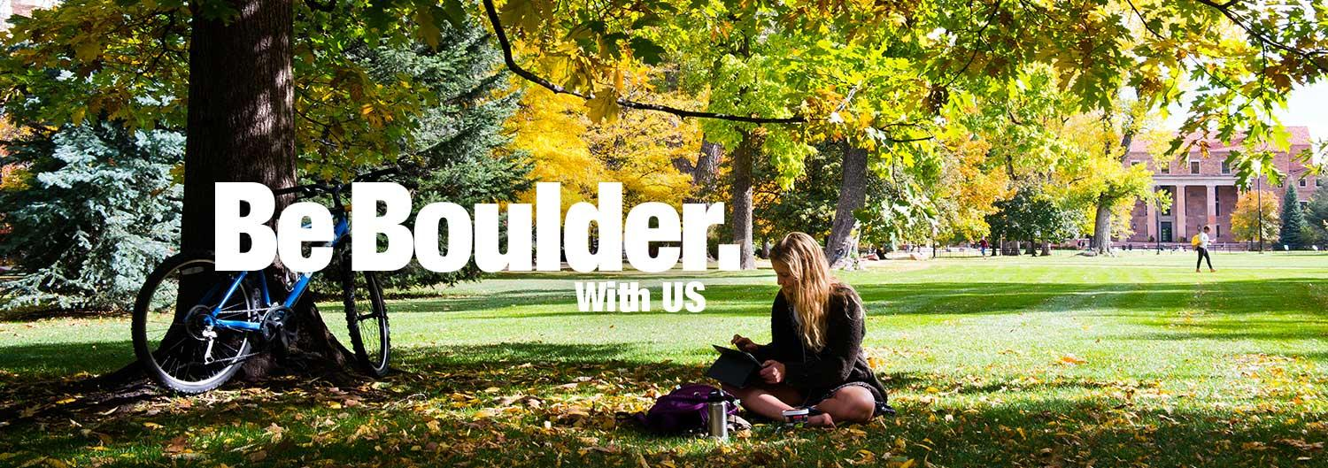 Be Boulder With Us.