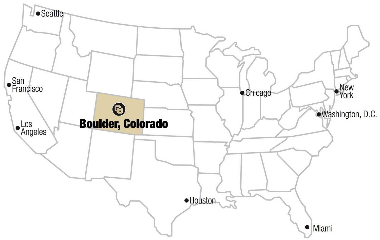 International University Of Colorado Boulder University Of - Colorado on us map