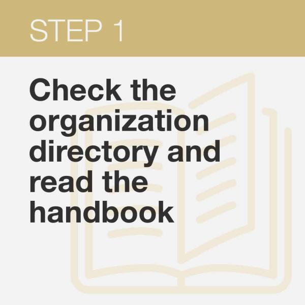 check out Student Organization Directory and Handbook
