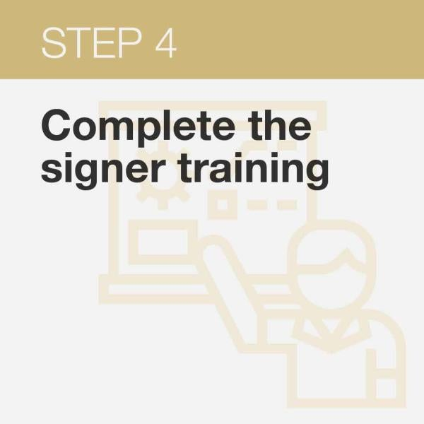 Click here to get directions on the signers training and quiz