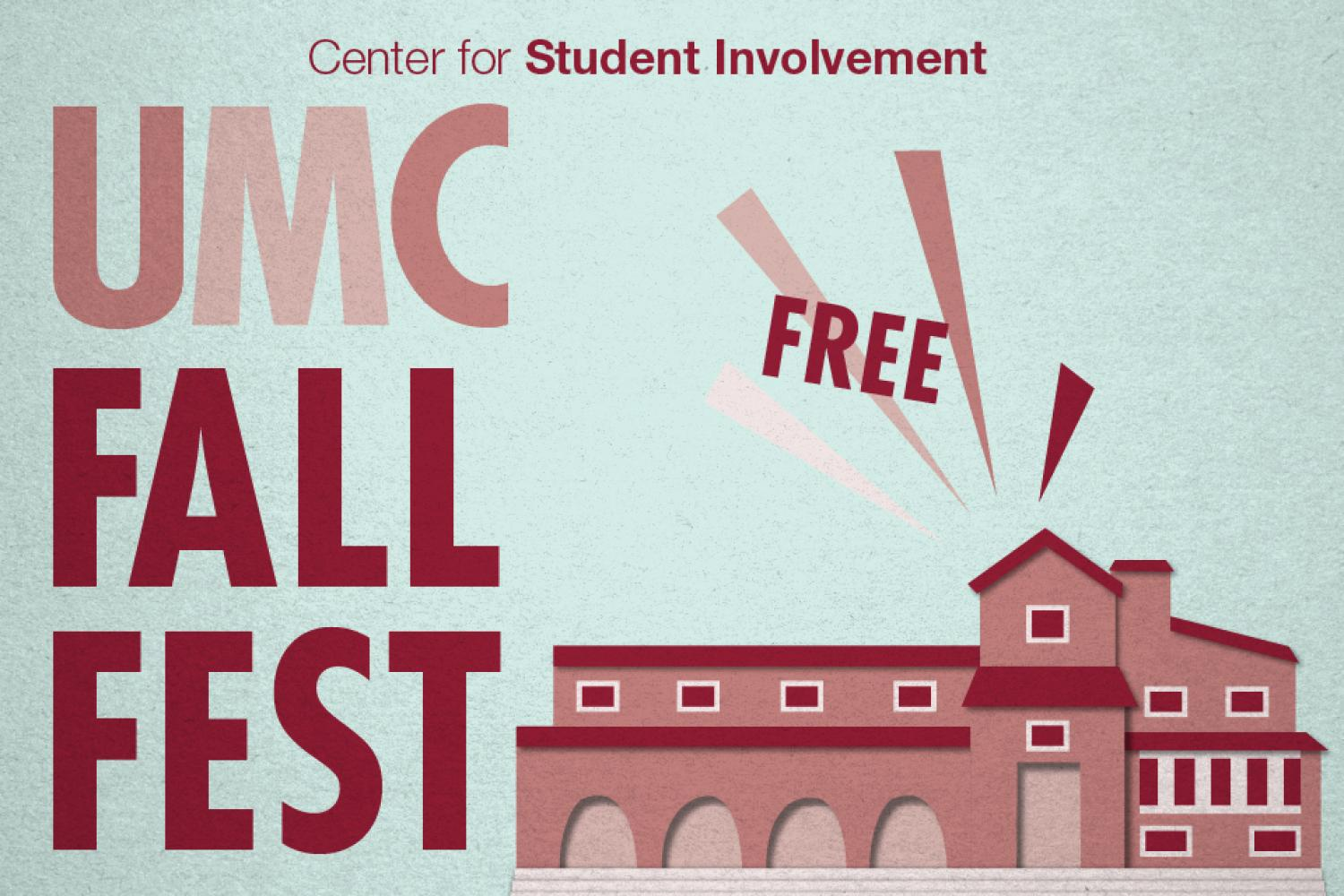 UMC Fall Fest is Friday, August 25 in the UMC from 7pm-11pm. It's free for CU students. There are fun activities, music and entertainment, food, and chances to win prizes.