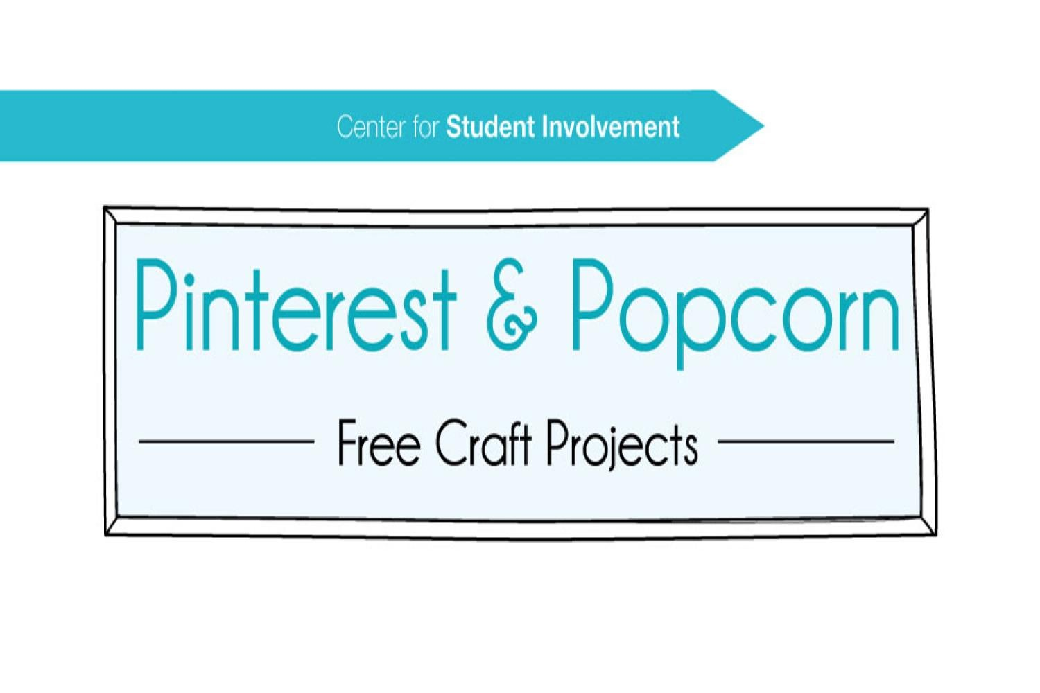 Pinterest and Popcorn poster