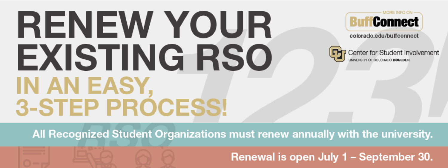 Renew your existing R S O in 3 steps renewal is open from July 1 to September 30
