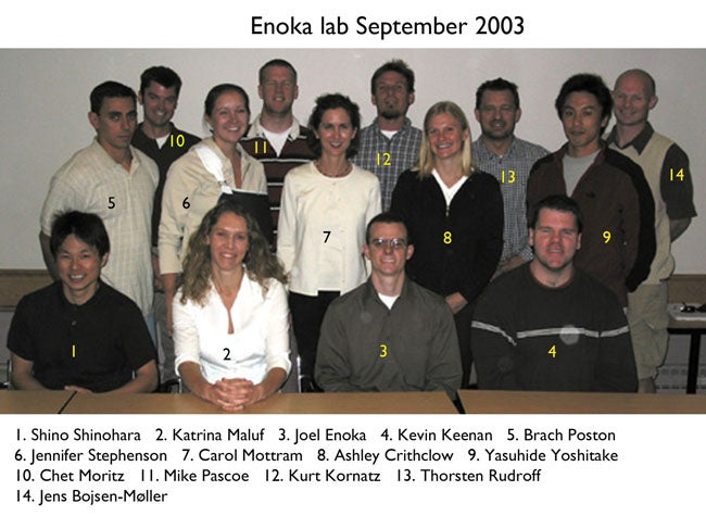 Enoka Lab 2003 September