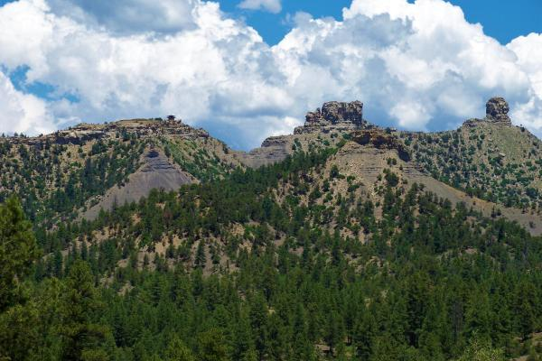 A view of Chimney Rock