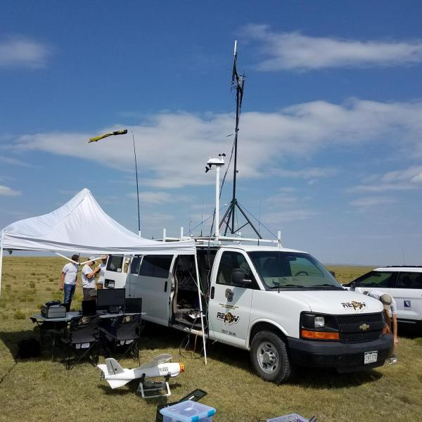 The MUASO Ground Station as part of the KAIST Project in the Pawnee National Grasslands in Northeast Colorado