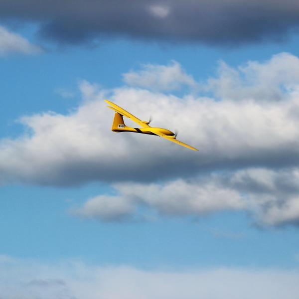 The Ttwistor aircraft in flight