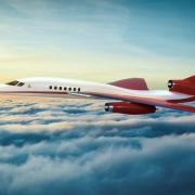 An artist's drawing of the Aerion AS2 supersonic jet