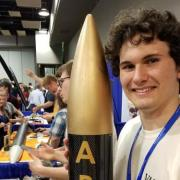 Connor Morency at the NASA Student Launch Competition