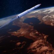 Rocket leaving the atmosphere