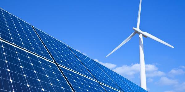 Solar power and wind turbine