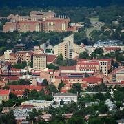 CU Boulder's campus from the air