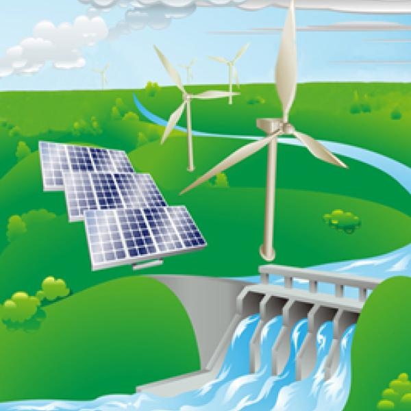 Hydro electric and windfarm