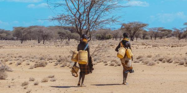 Water collection in Turkana, Kenya
