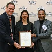Pao receiving her award