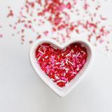 valentine sprinkles in shape of a heart thumbnail