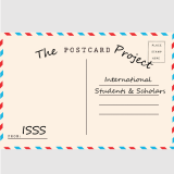 Postcard written out to international students and scholars