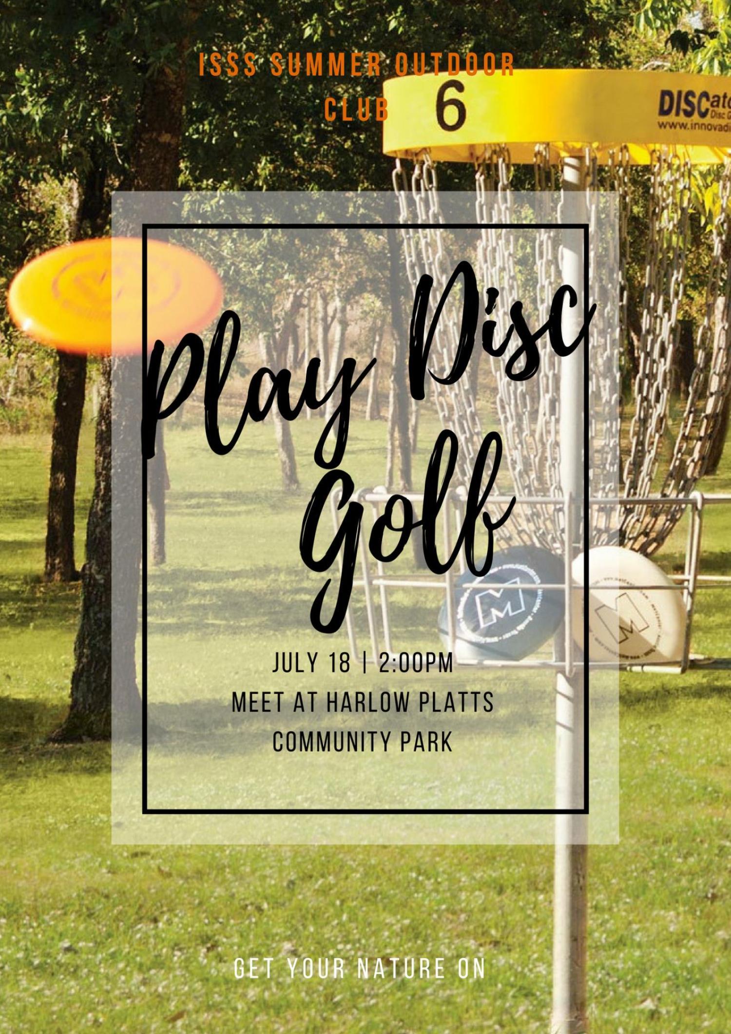 Disc Golf Event Flyer