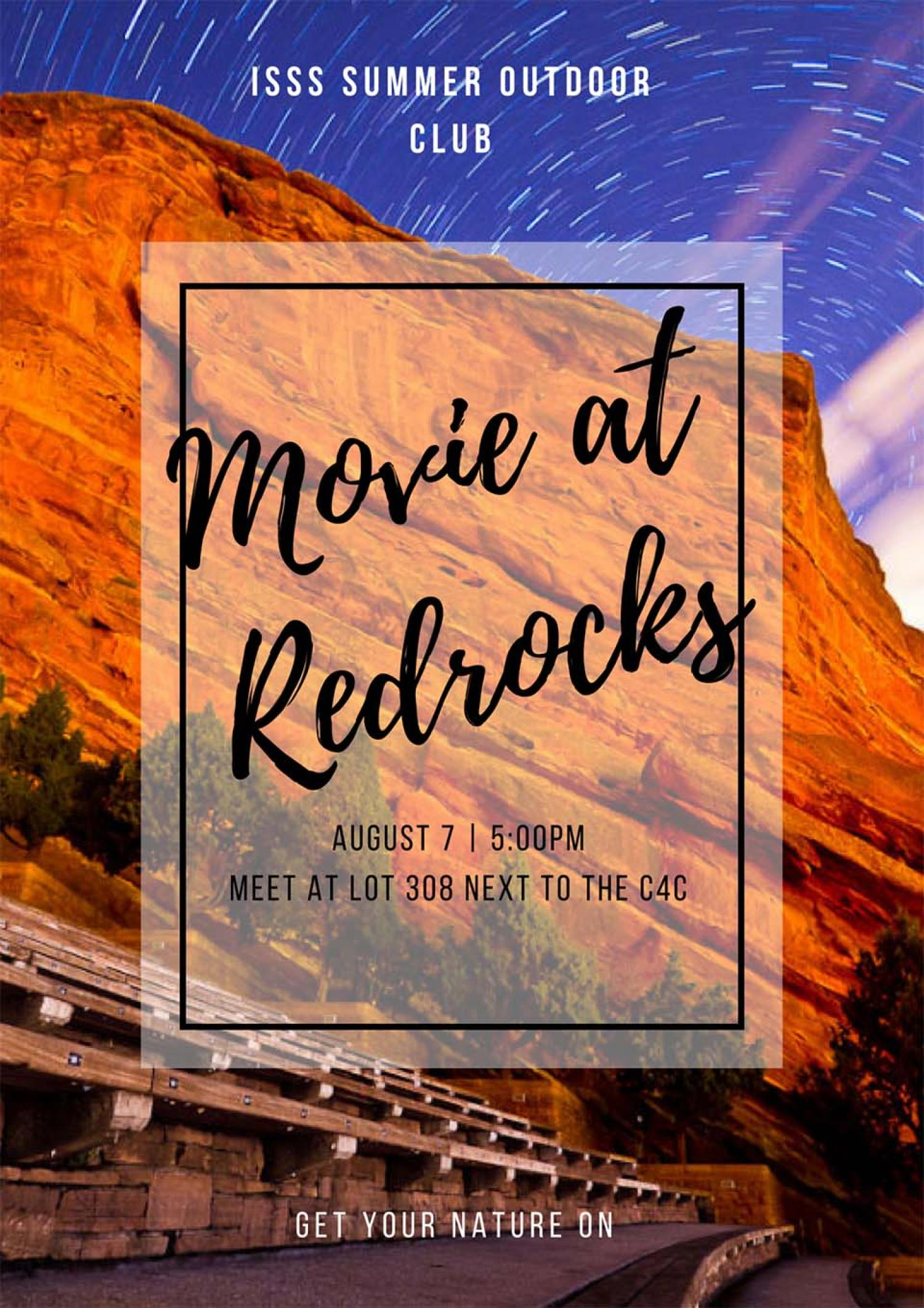 Movie at Red Rocks Event Flyer