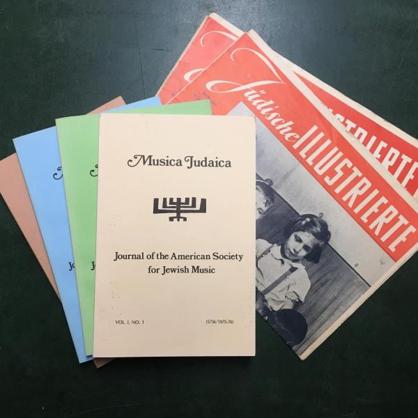 Photo of leaflets, brochures, etc. from the Richard Campbell Collection housed in the Post-Holocaust American Judaism Collections at CU Boulder