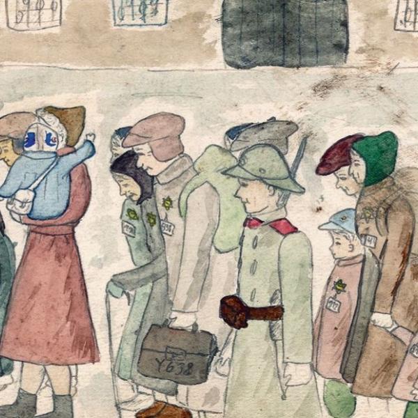 Arrival at Terezin - Helga Weissova