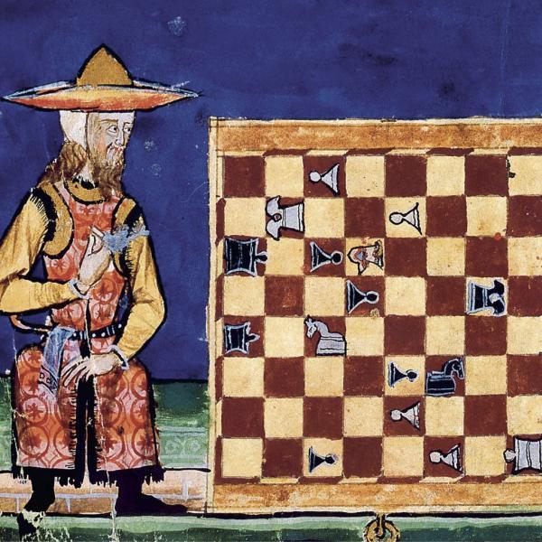 Jew and Muslim playing chess