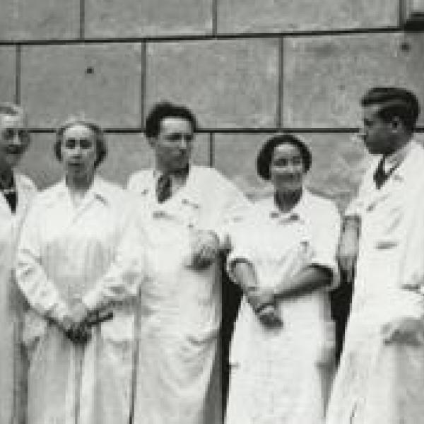 Jewish doctors photographed in Vienna
