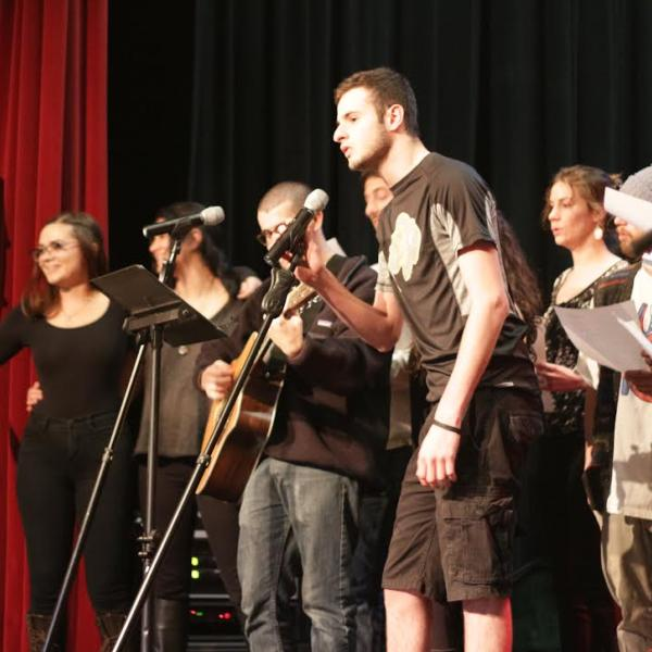 Students performing