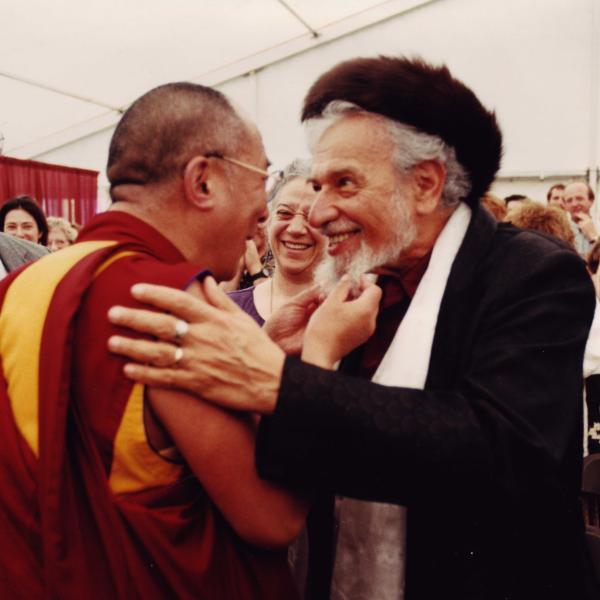 Rabbi Schachter-Shalomi with the Dalai Lama