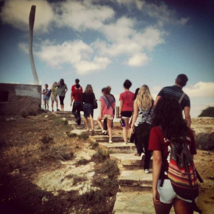 Students on Global Seminar to Israel, summer 2014