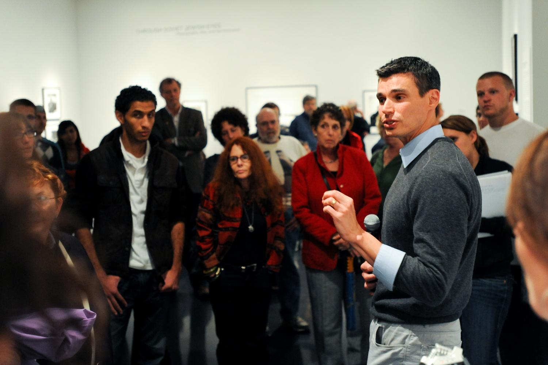 David Shneer presenting Soviet Jewish Eyes Exhibit
