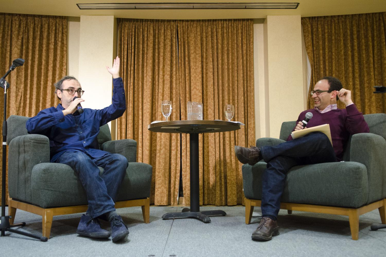 Sasha Senderovich in conversation with visiting author, Gary Shteyngart