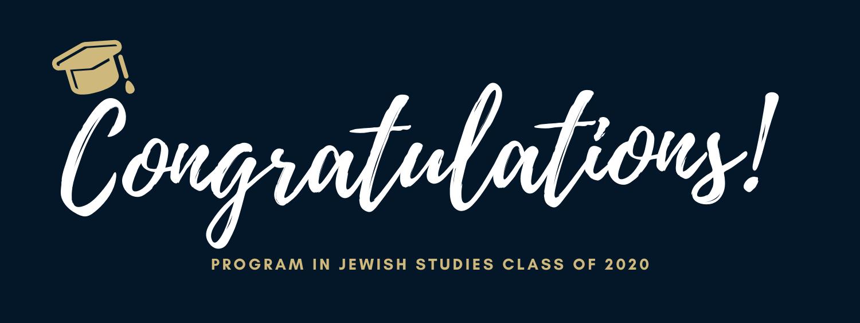Congratulations to our Jewish Studies 2020 Graduates