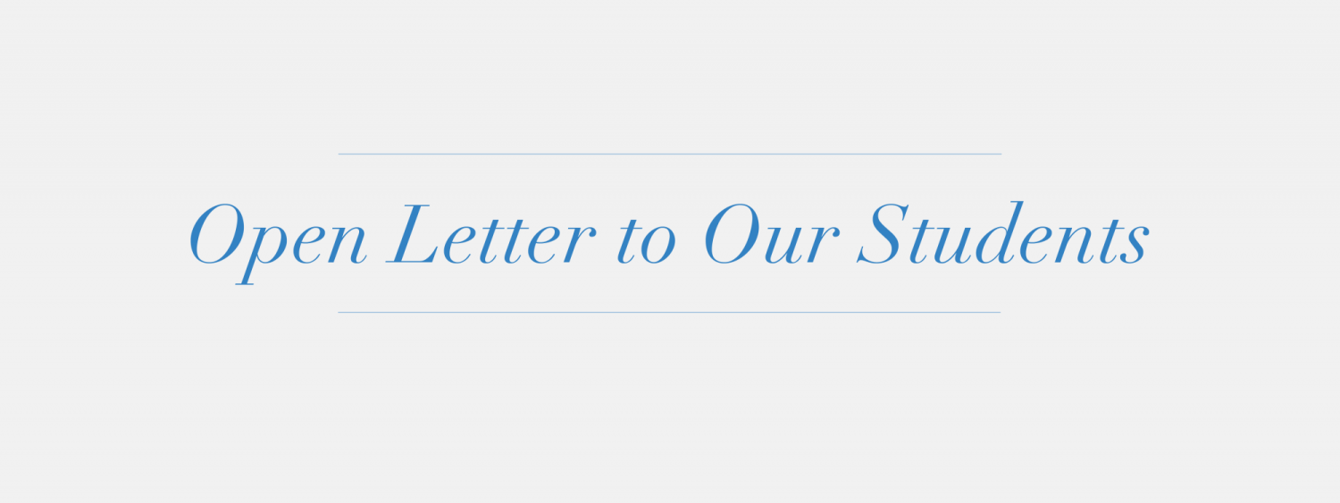 Open Letter to Our Students