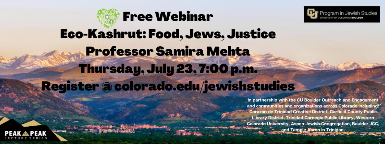 Free Webinar: Eco-Kashrut: Food, Jews, Justice