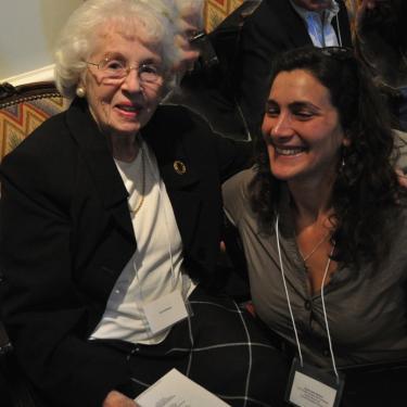 Sarah Gavison and Ida Goldberger