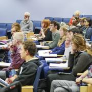 Jewish Studies students learning in a class room