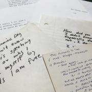 Photo of Alan Lew's papers in the Post-Holocaust American Judaism Collections