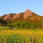 Photo of the Flatirons in Boulder, CO