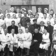 Doctors and staff of the Lodz Ghetto Hospital, Poland, 1940-1944